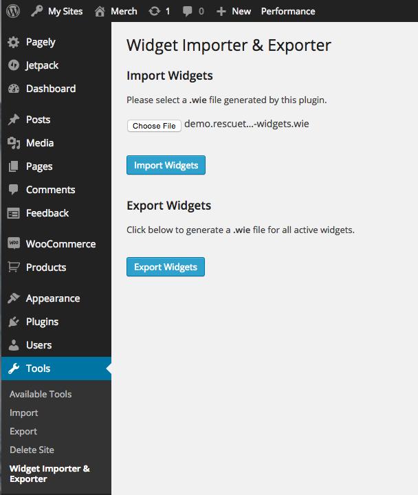 Widget Import