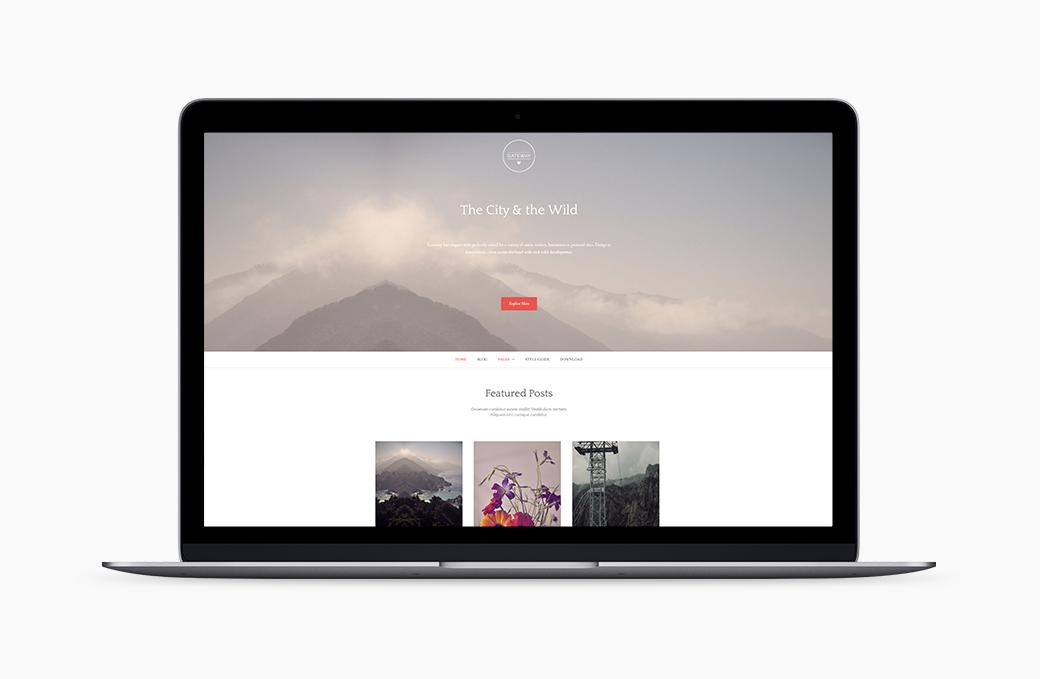 Gateway | A Free Mobile Ready WordPress theme.