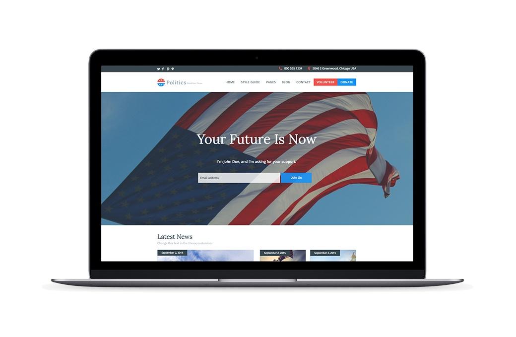 Politics rescue themes a free wordpress theme for political campaigns maxwellsz